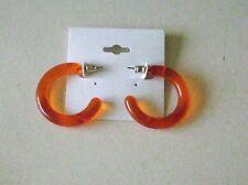 Ohrstecker. Ohrringe. Minicreolen. Orange. Leicht. Ohrschmuck. Modeschmuck.