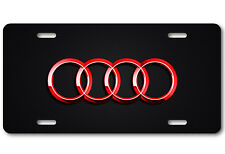 AUDI Aluminum Red Metal Car Auto License Plate Tag Abstract Art New
