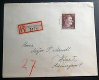 1942 Dnipro Ukraine Occupation Germany Registered Cover To Vienna