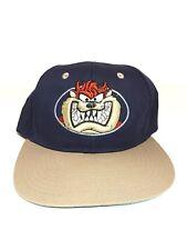 Looney Tunes Tazmanian Devil Snapback Adjustable Flat Bill Hat Cap TAZ Vintage