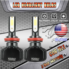 1000W H11 LED Headlight Bulbs for Ford F-150 2015-2017 Focus 2012-2017 Low Beam