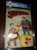 Golden Age Superman #37 1945 CGC 7.5 -  Prankster Cover, Boring & Roussos