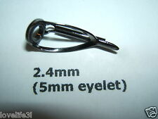 HEAVY DUTY BOAT ST. STEEL GUNMETAL PLATED 2.4mm ROD TIP END EYE HEMATITE EYELET