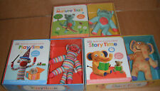 Lot of 3 Skill for Starting School Board Books with Plush
