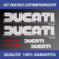 KIT 2 ADESIVI + 2 OMAGGIO SERBATOIO DUCATI MOTO DECAL STICKER RIFLETTENTI