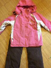 Schnee- und Skianzug Gr. 134/140 rosa, weiß, braun