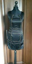 AX PARIS Tunic Longline Top/ Dress Black with Gold/Bronze Studs Size 10