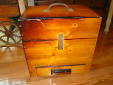 "Large Handmade Solid Wood Tool Chest with Drawer. 16"" x 16"" x 10 1/2"""