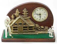Vintage United Electric Golf Player Night Light Lamp Shelf Mantel Clock
