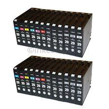 24 Cartuchos de Impresora tinta para Canon Pixma Pro 1 PGI 29XL con chip