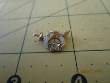 Vintage Shriners  Lapel Pin - 14k diamond  Gold Masonic Collectible