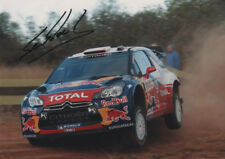 Sebastien Loeb-ORIGINAL AUTOGRAPHE, Citroen ds3 WRC 2011, signed photo