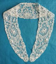 Pretty antique Brussels Point de Gaze lace collar - petalled roses