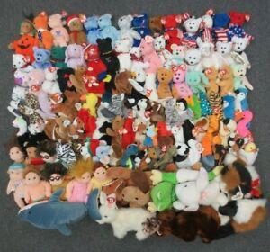 ~~113 TY BEANIE BABIES, KIDS, CLASSICS, & PILLOW PALS COLLECTION LOT - WHOLESALE