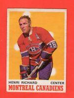 1970-71 OPC O PEE CHEE  # 176  Henri Richard Ex+
