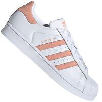 adidas Originals Superstar W Damen-Sneaker Turnschuhe Schuhe Weiß Pink Rosa