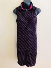 EXPRESS WOMEN'S JUNIORS SIZE 5/6 Button Shirt Dress Sleeveless Stripe Black Pink