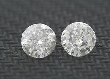 Matching .65ct each (1.30ctw) Round Loose Diamonds I color, I2 clarity 5.45mm