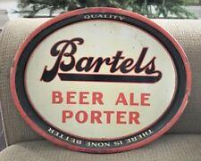 Vintage Bartels Beer - Brewing Co Metal Tin Litho Tray Edwardsville Pa