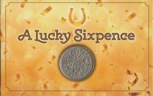 Lucky Old Sixpence Coin Gift Mum Dad Fathers Day Valentines Xmas Gift Keepsake