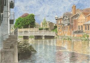 Tonbridge Limited edition print sold unmounted in a tube