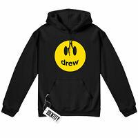 Drew house hoodie smiley face justin bieber kanye west