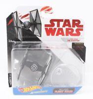 Star Wars Die Cast - Hot Wheels Starships- First Order Tie Fighter-The Last Jedi