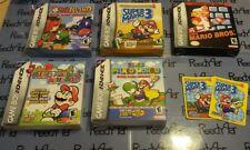 Super Mario Advance 1 2 3 4 & Classic NES Series Nintendo GameBoy Bros. complete