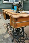 1904  standard sewing machine with wooden cabinet