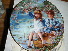 "Porcelaine Plate ""Sandra Kuch Boy and Girl Patience, Knowles Nib"