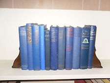 Lot of 11 Old Vintage Books *Attractive Blue Covers* Late 1800's-Early 1900's