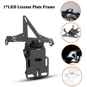 1* Metal Fender Eliminator License Plate Holder Bracket LED Taillight Motorcycle