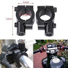 """7-8"""" Espejo 10mm Motocicleta Manillar de Montaje Adaptador Abrazadera de soportes de aluminio"""