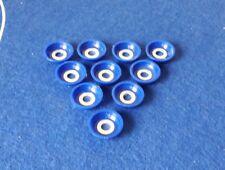 Subbuteo/Santiago. Set of 10 SANTIAGO HEAVYWEIGHT BASES.....ROYAL BLUE.