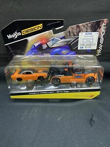 Maisto Design Elite Transport ORANGE Wrecker 1970 Dodge Challenger R/T 2016