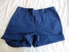 Forever 21 Women's Navy Dress Shorts Cuffed Hem Super High Waist Size 27 EUC