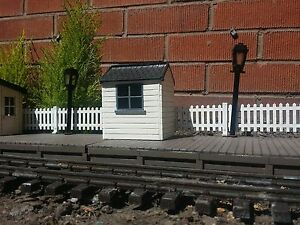 LINESIDE HUT FOR GARDEN RAILWAY IN G SCALE. COMPLETE KIT