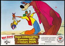 CINEMA-fotobusta FRATEL CONIGLIETTO,COMPARE ORSO E COMARE VOLPE cartoon disney