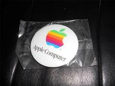Original APPLE COMPUTER Button Badge NOS Safety Pin Back RARE