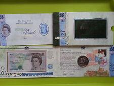 United Kingdom Commemorative Note and coin with Folder UNC RARE
