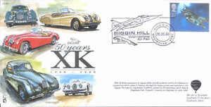 AS1 Jaguar XK 50 years car cover flown in Hot Air Balloon RAF Jaguar postmark