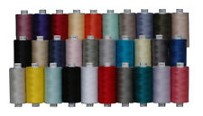 Moon Polyester Sewing Thread By Coats , 30 Spools Set 1000 Yds Each Spool