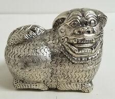 Antique South East Asian Thai Betel Nut Box Foo Lion Dog Signed