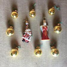 2007 Christopher Radko Teleflora Christmas Tree Mini Ornaments Lot of 10