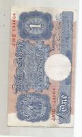 1940 PEPPIATT ONE POUND BANK NOTE EXTREMELY FINE