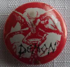 DEMON Vtg 1980`s 25mm Button Pin Badge NWOBHM Heavy Metal UK Made#DL106