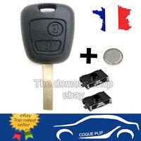 Coque PLIP Télécommande Clé CITROEN C1/C2/C3/C4/C5 + 2 Switch Bouton + Pile