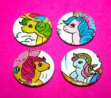 SET OF 4 MY LITTLE PONY BUTTON PIN BADGE
