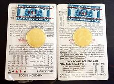 AMAZING BROWN & BIGELOW ART DECO BAKELITE BRIDGE PLAYING CARD SET IRS STAMP SEAL