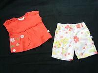 Kanz • Mädchenset Baby Set Hose Blumen + Shirt Bluse • 1 M. • Gr. 56 • Sommer